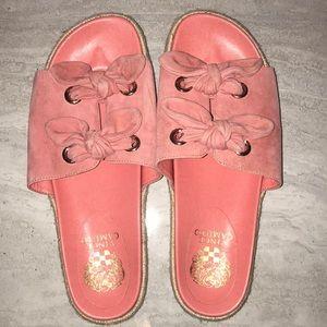 Vince Camuto Jazzan Tied slide sandals 9 suede